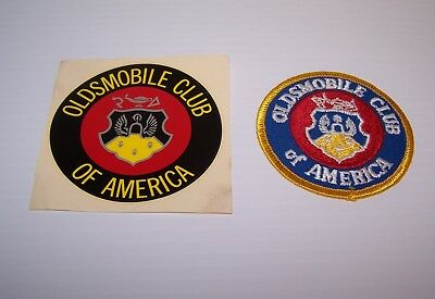 Oldsmobile Club Of America Decal & Embroidered Patch Unused 1981