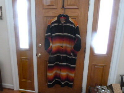Woolrich blanket duster jacket Southwest Navajo Autumn Ombre Native American