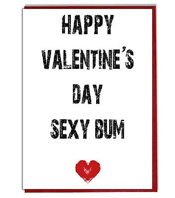 Valentines Day Sexy Bum Funny Rude Card For Girlfriend Wife Husband Boyfriend