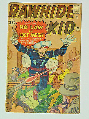 Rawhide Kid #31 Jack Kirby Dick Ayers Cover and 3 Stories 1962 Marvel Comics