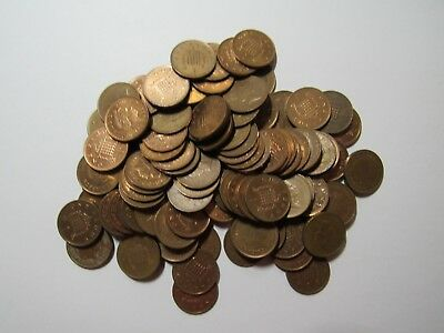 Lot of 100 Great Britain Current 1 Penny Coins - Circulated