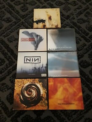 Nine Inch Nails 7x CD LOT The Downward Spiral broken with teeth closer halo