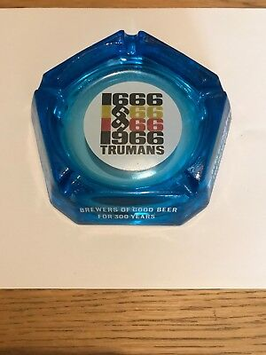 Vintage trumans glass ashtray Brewery