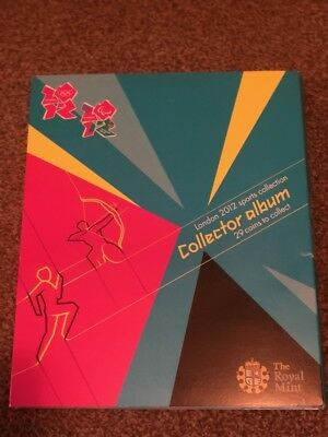 LONDON OLYMPIC GAMES 2012 50p SPORTS COLLECTOR ALBUM GOOD CONDITION