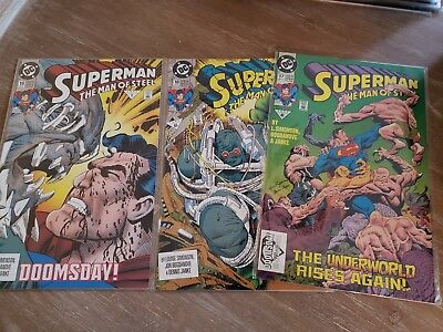Superman Man Of Steel 1 -69 With 17 18 19 All Very High Grade 9.4 to 9.8