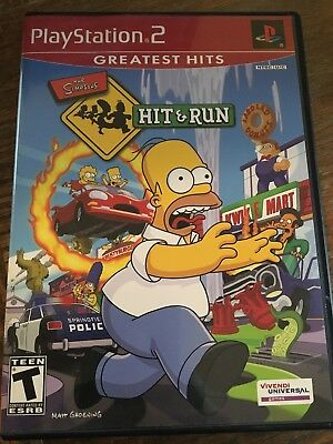 Simpsons: Hit &/and Run (Sony PlayStation 2, 2003) PS2 - Greatest Hits