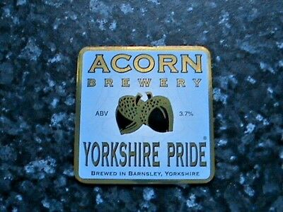 Acorn Yorkshire Pride beer pump clip sign