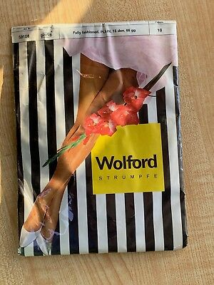 Rarest Ultra Hq Wolford Fully Fashioned 15 Denier Seamed Stockings Size 10 Long