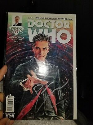 Doctor Who 12th DR #1 Autographed by Peter Capaldi!!!!