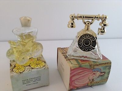 Vintage Avon Country Carriage & French Telephone Cologne Bottles W/boxes