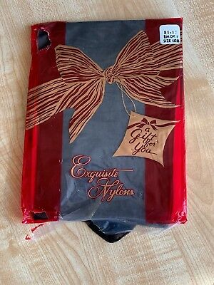 Rare Exquisite Nylons 15 Denier Smoke Fully Fashioned Seamed Stockings  - 10.5