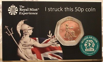 """2019 Royal Mint Britannia 50p Fifty """"NEW"""" Pence - Strike Your Own Coin"""