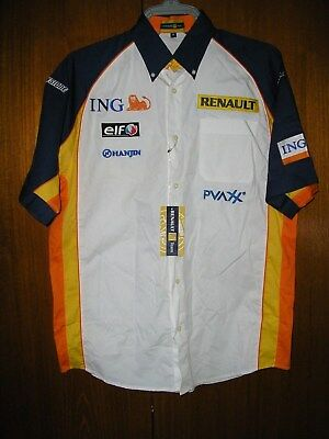 Renault F1 Team Shirt Motor Racing Retro Brand New with Tags size M 38/40