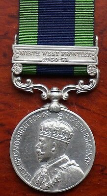 India General Service Medal 1908 Bar North West Frontier 1930-31 to Bengal S & M