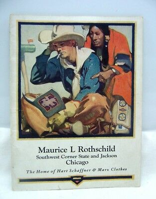1920 Chicago Hart Schaffner & Marx Clothing Catalog Great Art Deco Artwork!