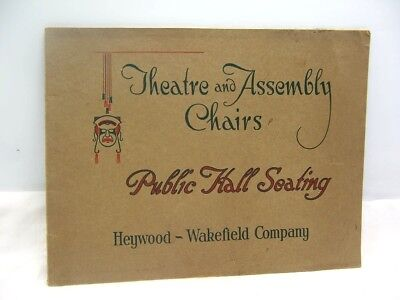1910's Heywood Wakefield Theatre & Assembly Chairs Seating Catalog 44 Pages