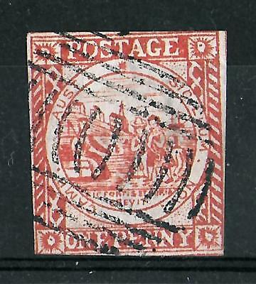 NEW SOUTH WALES 1850 Used 1d Brownish Red Imperf SG #12 CV £350