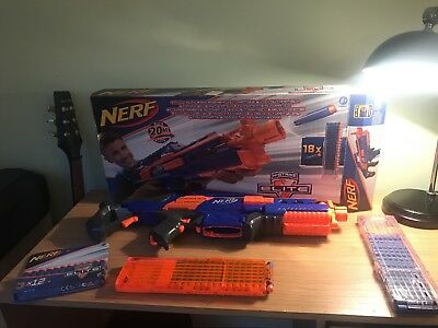 NERF N-STRIKE ELITE RAPIDSTRIKE CS-18 Blaster - Complete with Box and 47 bullets