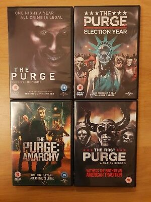 THE PURGE 4 x DVD bundle Anarchy / Election Year / The First (Region 2, 2018)