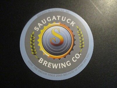 SAUGATUCK BREWING bluebery maple stout PALED IT STICKER decal craft beer brewery