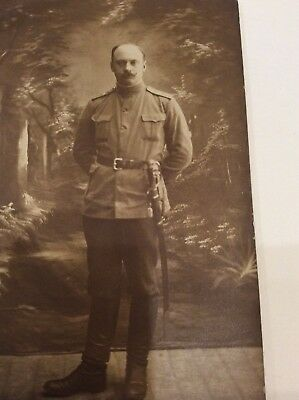 Russian Army Imperial Officer ~ 1915 WW I Time Photo