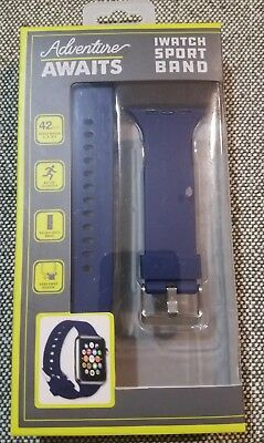VIVITAR iWatch 42 mm SPORT BAND for SERIES 1, 2 and 3  in NAVY BLUE