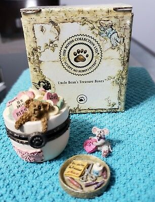 Boyds Bears treasure box 'Everlove's Dandy Candy w Sweettooth McNibble' 2001 ret