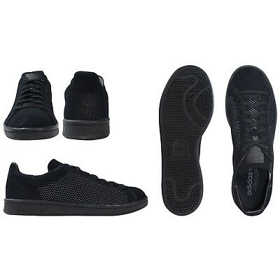 best sneakers aea8f 02560 Adidas Stan Smith Pk Primeknit Triple Noir Taille Us 8.5 S80065 8 UK Eur 42  Neuf
