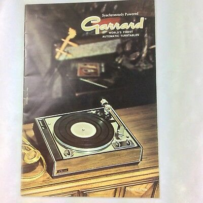 Garrard Turntable Product Catalog 20 pages - original