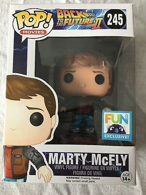 Funko Pop! Movies Back To The Future Marty Mcfly Hoverboard #245 Fun.Com Excl.