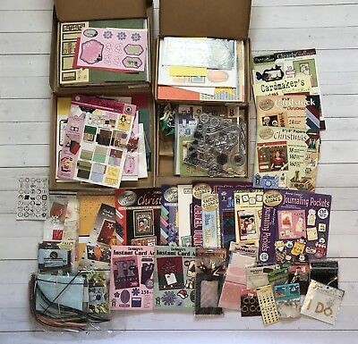 Huge Card Making Craft Lot - Paper Crafting, Scrapbooking, New And Used