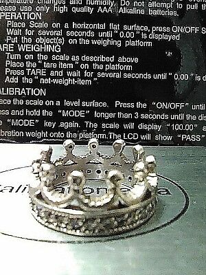 Beautiful Crown Sterling Silver Medieval Style King Queen 925 CZ Pieces Size 5.5
