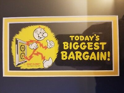 Vintage Reddy Kilowatt Framed Sign