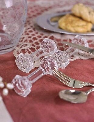 Victorian Trading Co Set of 6 Handcrafted Crystal Knife Spoon Rests