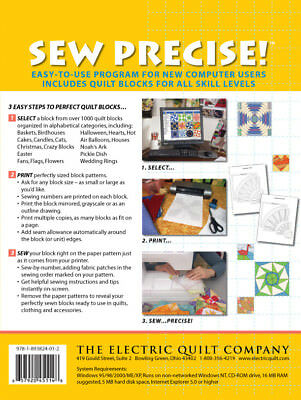 Electric Quilt Sew Precise Collection 1 and 2 Quilt Block Foundation Patterns