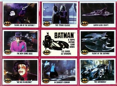Batman - For Sale Is A Full Topps 1989 Set + Sticker Set + Original Wrapper Set