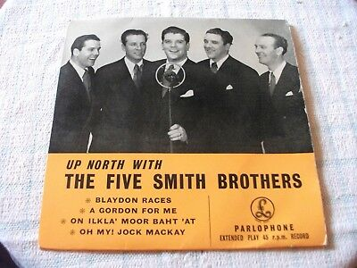 The Five Smith Brothers Up North With UK PS EP Rare 1955 ?