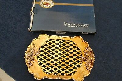 Royal Doulton Old Country Roses Gold Plated Extended Stretch  Decorative Trivets