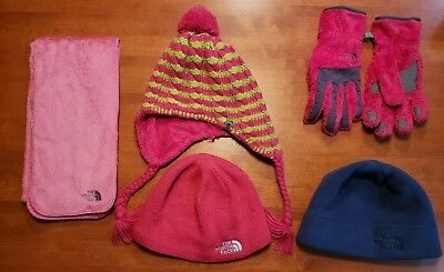 3 North Face hats 1 North Face Scarf 1 North Face 1 Pair of gloves