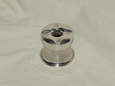 ART DECO STERLING SILVER AND BAKELITE UPRIGHT ASHTRAY ;  Hallmarked 1934
