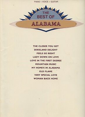 The Best of Alabama Piano, Voice, Guitar Songbook  Warner Brothers Music 1984 US