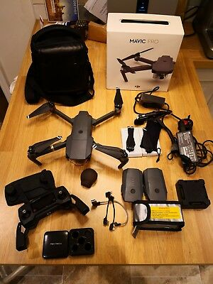 DJI Mavic Pro 4K With Fly More Combo and PGY filters. MINT CONDITION