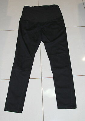 Womens size 12 black stretchy maternity pants made by BUB2B Bub to be