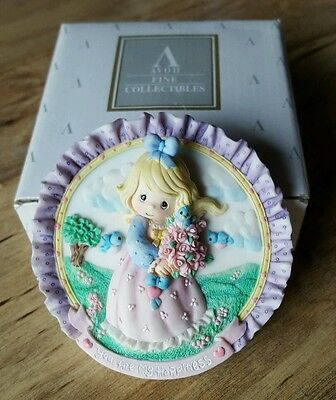 Vintage 1996/1997 AVON PRECIOUS MOMENTS YOU ARE MY HAPPINESS MINI PLATE