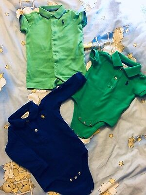 Baby Boy Polo Ralph Lauren Bodysuit Bundle 3-6months 6-9months