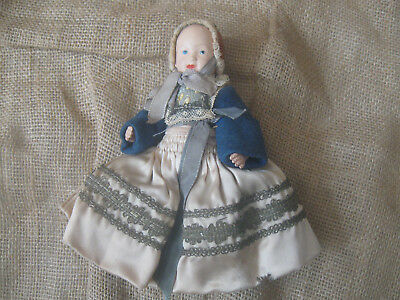 Antique vintage FRENCH BEBE BRETON CELLULOID DOLL baby toy german dress