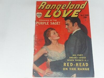 Rangeland Love #2 March 1950  Atlas  Love   Comic      4 Holes Punched In Comic