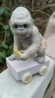 Precious Moments Animal Train Gorilla Age 15 Go Bananas New in Box NIB