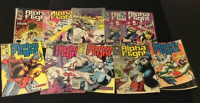 Lot of 10 Marvel Alpha Flight comics