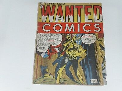 Wanted Comics   No #  Uk Edition  Arnold Book Co.  36 Pages  B & W  Poor